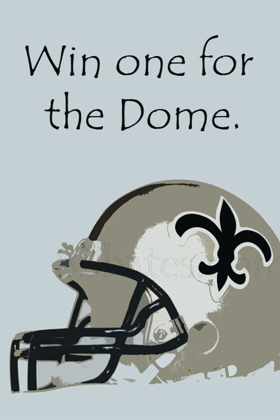 New Orleans Saints Man Cave Decor : Items similar to new orleans saints signs poster wall home