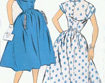 CLEARANCE SALE 1950s ROCKABILLY Dress New York Pattern 1118 Womens Vintage 50s Sewing Pattern Size 16 Bust 34