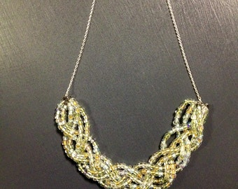 Beaded Braid Statement Necklace