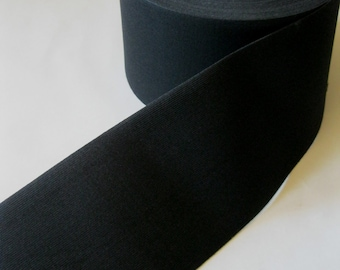 black elastic 5 inches extra wide