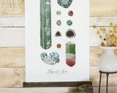 Vintage Inspired Science Posters - MINERALS & GEMS VOL.1