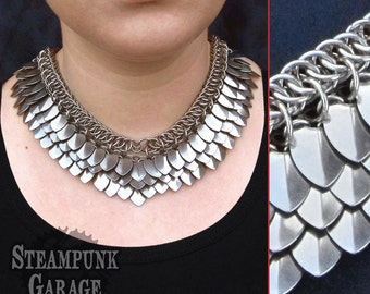 Scalemail Goddess Chainmaille Necklace w/ Half-Persian 4in1