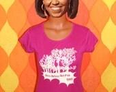 vintage women's t-shirt 1982 ann arbor ART FAIR michigan pink Medium trees pink