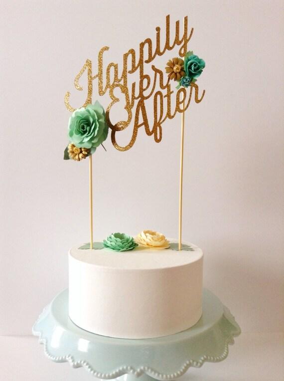 Design Your Own Birthday Cake Topper : Custom wedding or birthday paper cake topper personalized with