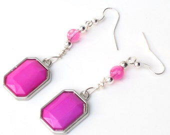 Pink Breast Cancer Earrings