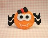 Set of 6pcs handmade Halloween Spider - pumpkin (FT1002)