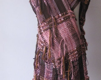 RUANA - poncho coat wrap shawl - handwoven - Ready to ship!