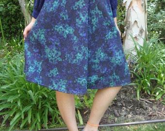 Vintage Floral A-Line Skirt S