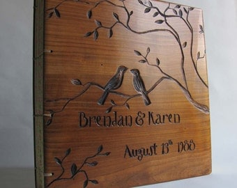 Personalized wedding guest book Woodland