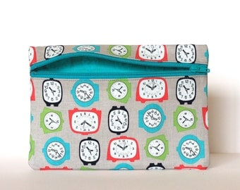 Alarm Clock Zipper Pouch