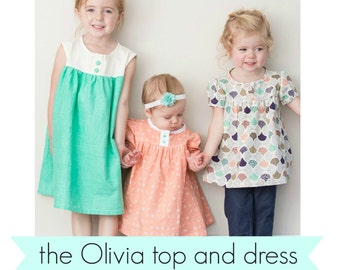Olivia top and dress PDF pattern