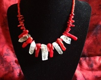 OOAK Ice and Fire Necklace