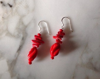 Fire Earrings, made with Sterling Silver