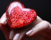 Valentine Heart Ring, Red Glitter Love Heart Resin Ring, Cute Valentine Novelty Gift for Her Handcrafted by isewcute on etsy