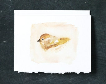 YELLOW BIRD Card and Envelope, Blank Interior, Post-consumer Recycled Paper