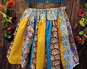 Strip Twirl Skirt - Bright Colored Paisley Prints - Custom Order Children 0-12 years