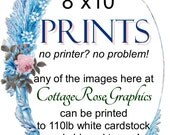 """Add PRINTING SERVICE to your order--8""""x 10"""" size have a print made of any image Add on service Printable"""