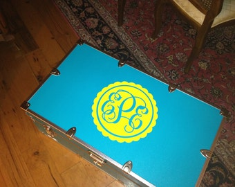 Personalized Camp Trunk Monogram Decal - Girls Christmas Gift - Camping Sticker - Camp Trunk Sticker - Camp Trunk Name