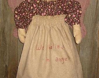 Primitive Angel Bag Doll E-Pattern,  PDF, Downloadable Digital Pattern