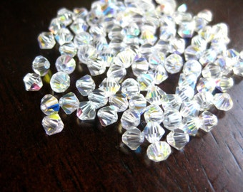 50% Off Clear AB Crystal Beads 3mm Faceted Bicone 3mm Swarovski Crystal beads 50 pcs GB0230