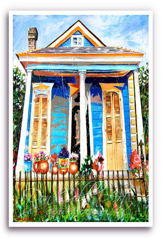 Items Similar To New Orleans 13x19 Quot Art Garden District