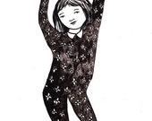 Huzzah Dancing Print