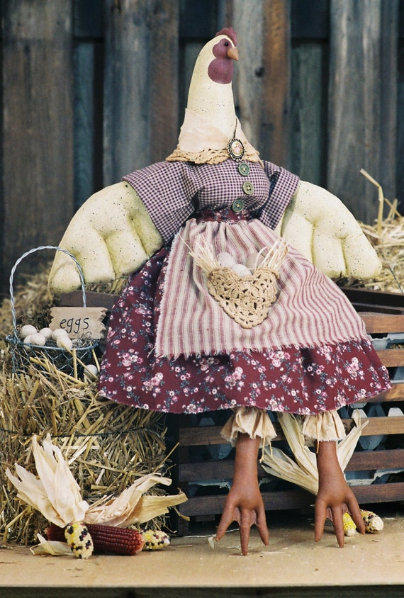 Cloth Doll E-Pattern - 26 inch Country Hen epattern