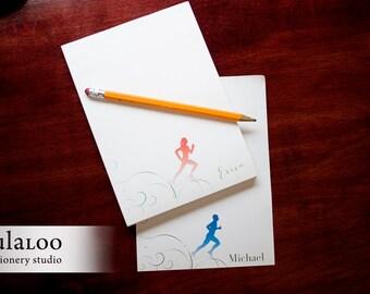 Runner Personalized Notepad - marathon runner gift
