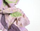Nuno Felted Silk Scarf - Lavender Field Rhapsody