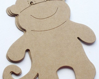 MONKEY - Chipboard Die Cuts -  Animal Bare Craft Shapes
