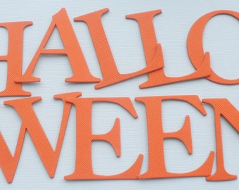 "HAPPY HALLOWEEN -  Chipboard Die Cut Letters - 2"" Tall Alphabet Diecuts"