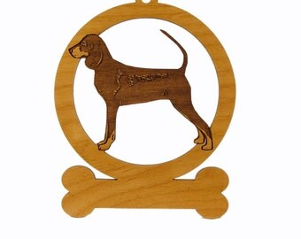 Black and Tan Coonhound Ornament 081766 Personalized With Your Dog's Name