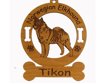 3611 Norwegian Elkhound Standing Personalized Ornament