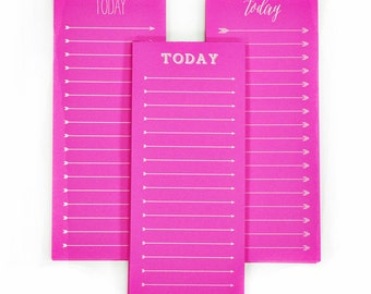 To Do Today Fluorescent Neon Note Pads