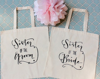 Sister of the Bride & Sister of the Groom- Set of 2 Bridal Family Gifts