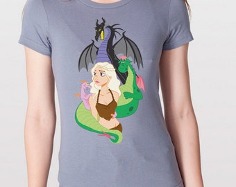 Mother Of Dragons Womens Fitted Tee Shirt