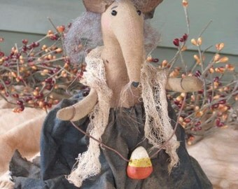 PDF Downloadable Pattern, Wicked Winnie Witch Mouse EPattern - Hafair