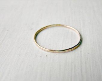 Thin Stacking Ring 14k Gold Fill
