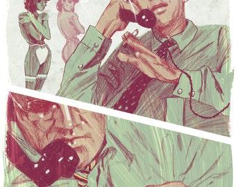 "Nine Stories - Pretty Mouth and Green My Eyes - 13"" x 19"" Fine Art Print by Jonny Ruzzo"