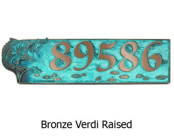Bass Home Address Numbers -  24x6 inches Custom for you by Atlas Signs and Plaques