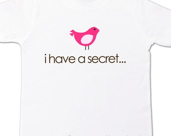 big sister to be shirt i have a secret - I'm going to be a big sister pregnancy announcement t shirt birdie