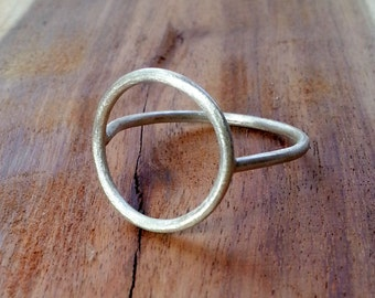 Circle Ring. Sterling Silver Jewelry. Handmade. Modern Contemporary Simple Sleek Elegant.