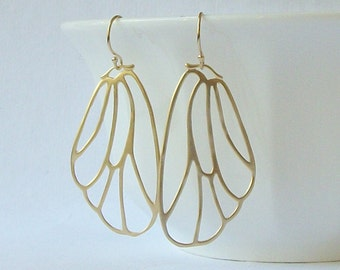 Butterfly Wing Earrings, Nature Inspired Jewelry