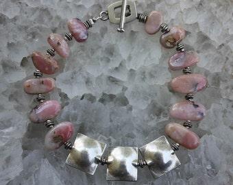 Peruvian Pink Opal Bracelet - Pink Dawn
