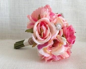 Lovely Petite Bouquet/ Romantic Wedding Bouquet/ Pink