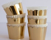 Round Gold Crown Baking Cups - 6/pcs