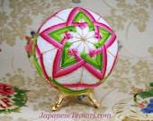Temari pattern for sale Pink Christmas Cactus