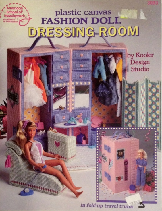 Items Similar To Plastic Canvas Dressing Room Book Fashion Doll Furniture Pattern Asn 3093 On Etsy