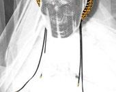 Large Gold Chain Headband/Tiara With Long Chain Dangles
