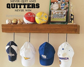 Winners never quit and Quitters never Win / Sports Quote / Coach Office Sign / Locker Room Sign / Sports Vinyl Sign / Lettering Wall Quote